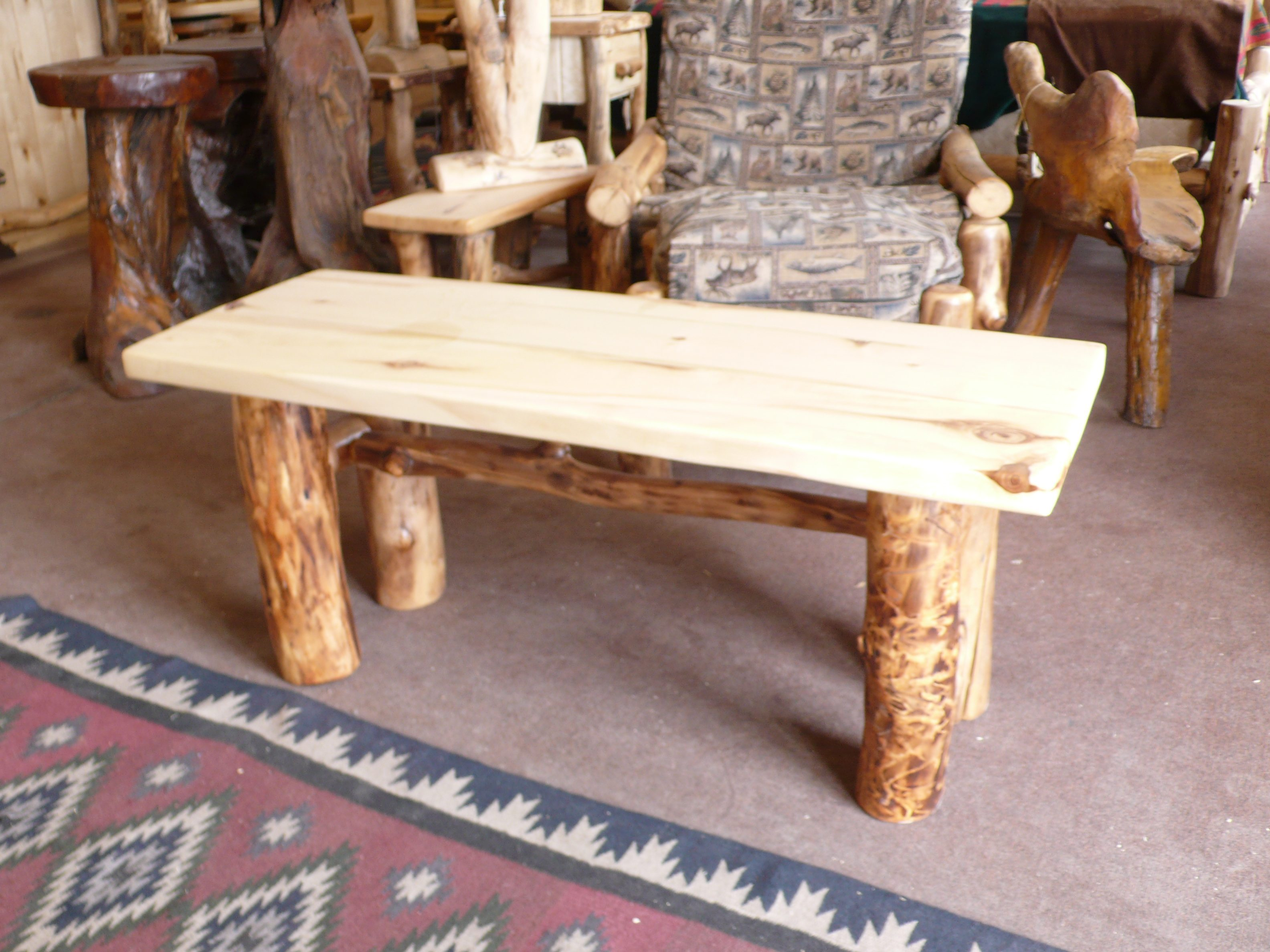 Aspen Coffee Table With X Brace Medicinewolf