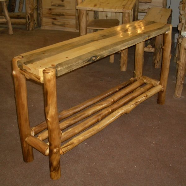 Log Sofa Table Cuyuna Sofa Table Rustic Furniture Mall By