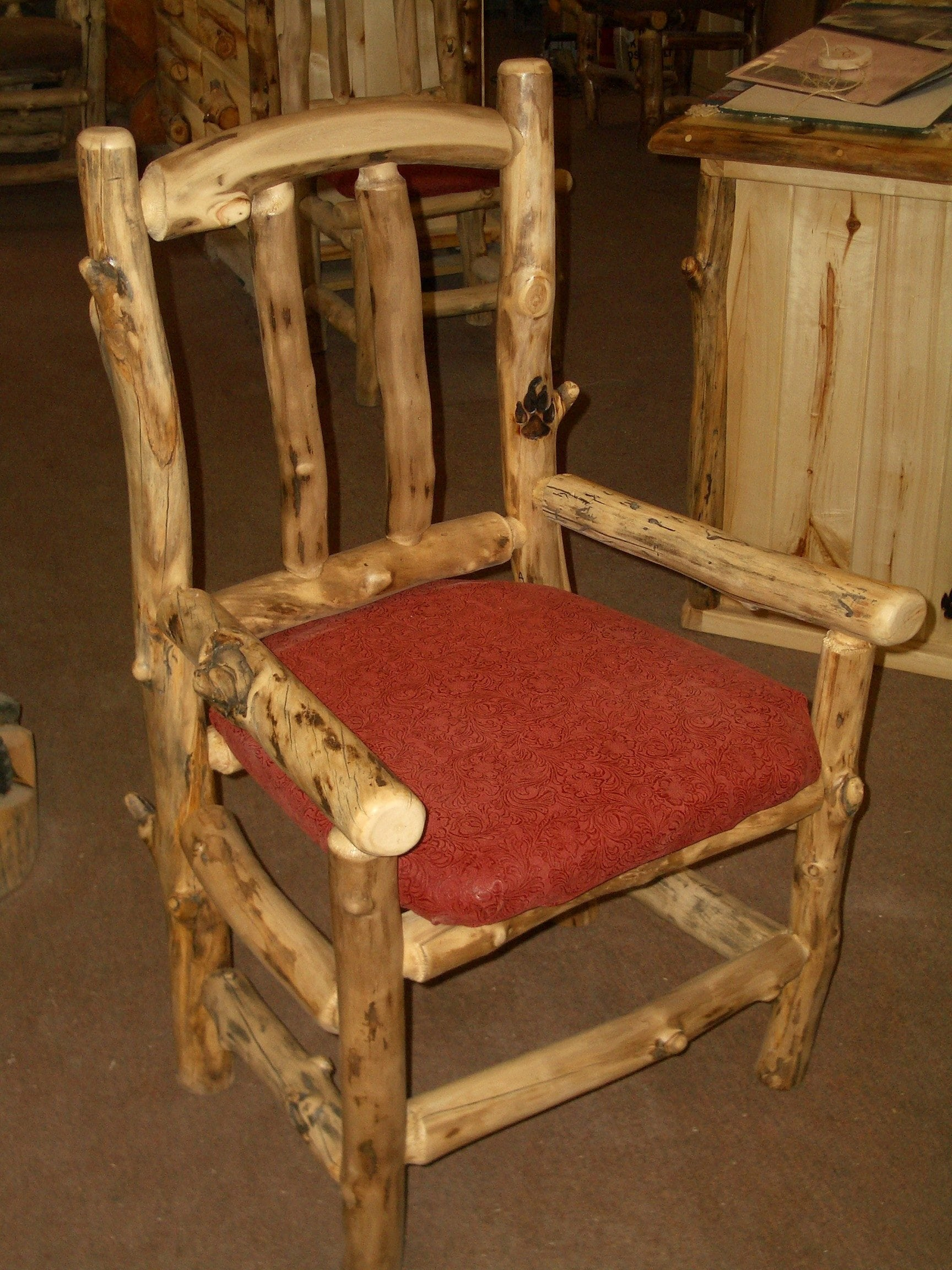 Classic Dining Chair with Arms and Upholstery MedicineWolf