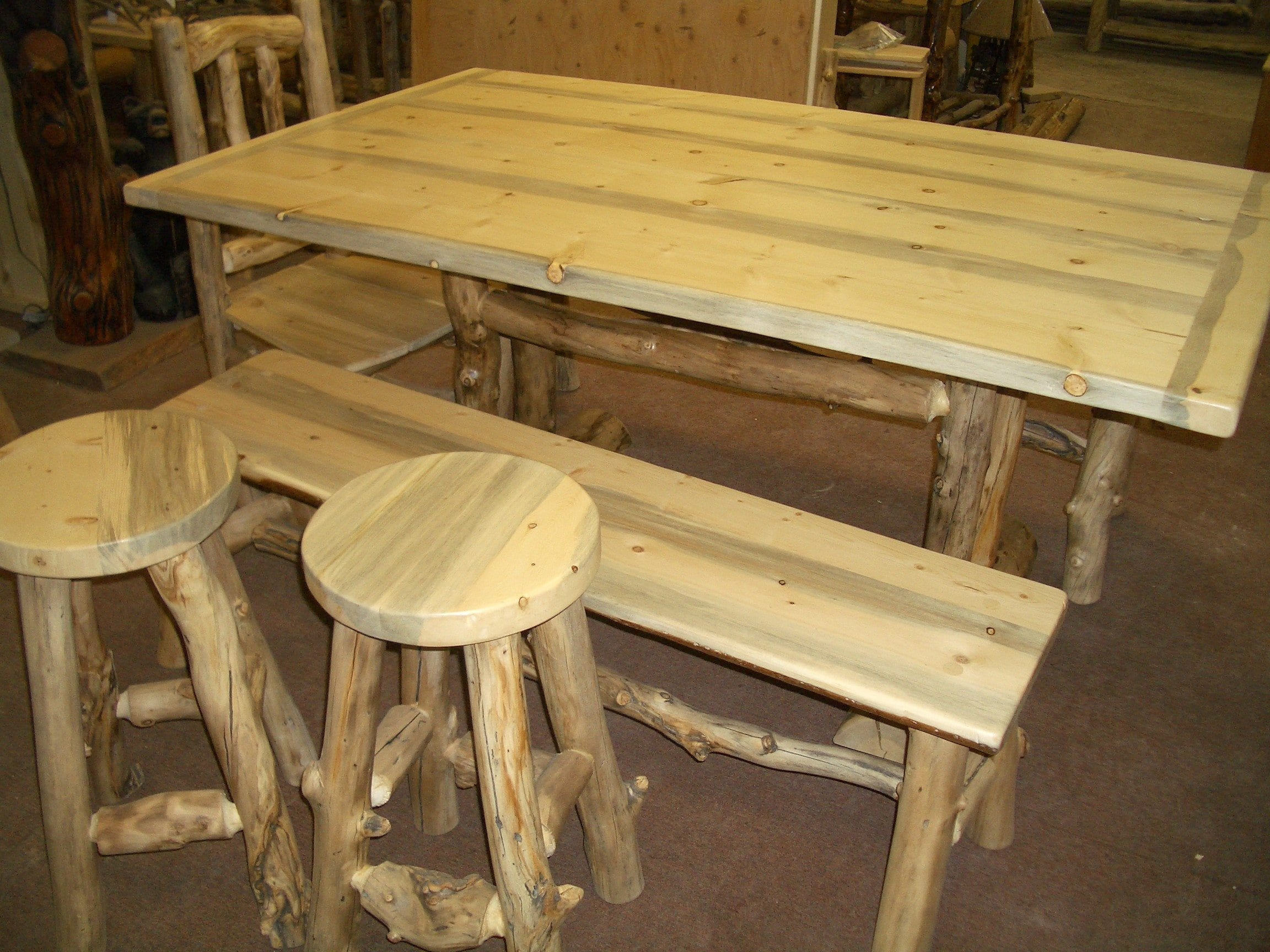 Dining Table For Eight Beetle Kill Pine